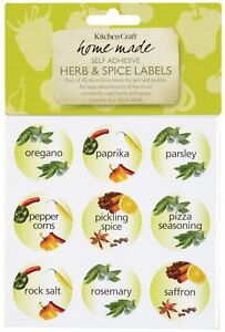 45 decorative herb spice labels for bottles jars 721864683412 ebay
