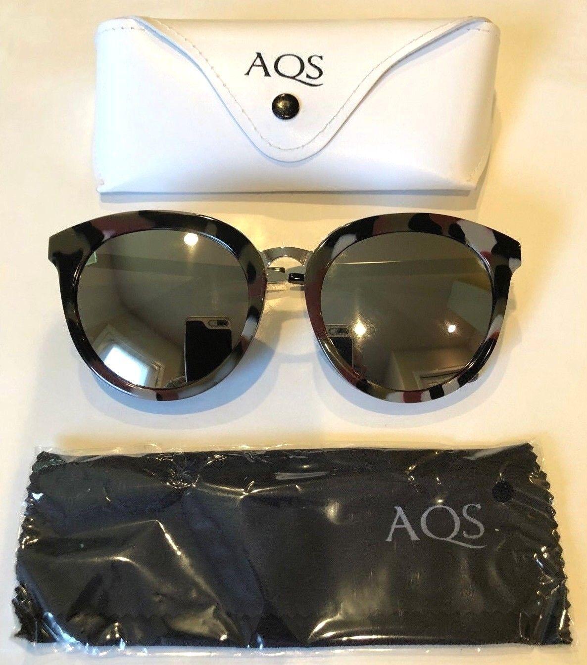 *NEW* AQS Aquaswiss Poppy Sunglasses Gray/Brown Camo frame Mirror lens- Ret