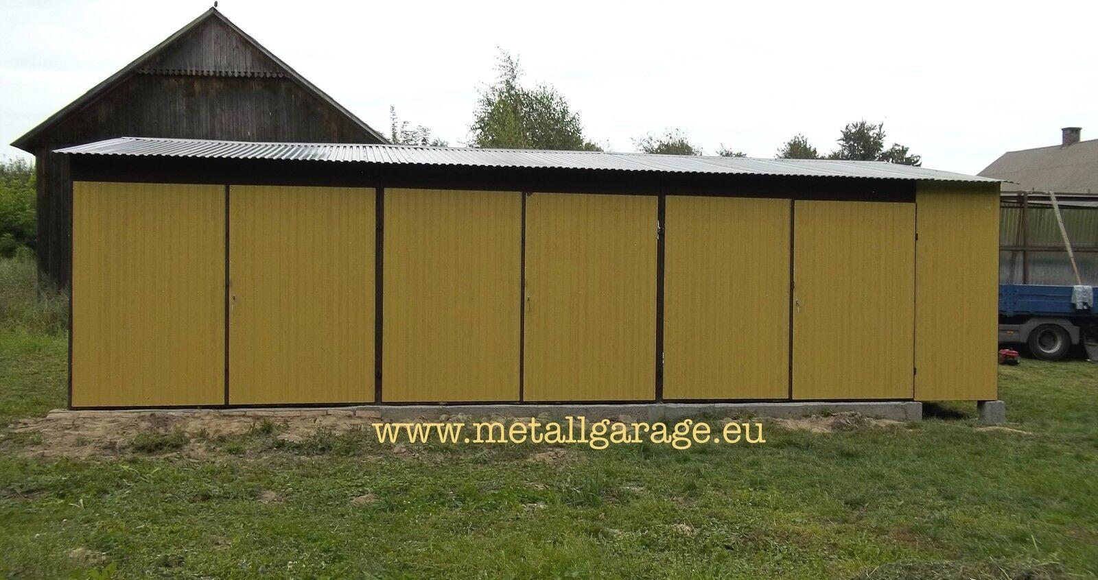 RAL 1002 10x5 Blechgarage Fertiggarage Metallgarage LAGERRAUM RAUM KFZ GARAGE