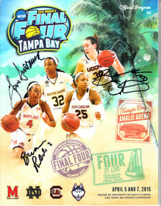 Geno-Auriemma-Breanna-Stewart-signed-2015-NCAA-Women-039-s-Final-4-program-UConn-COA