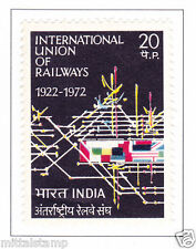 PHILA549 INDIA 1972 SINGLE MINT STAMP OF INTERNATIONAL UNION OF RAILWAYS UIC MNH