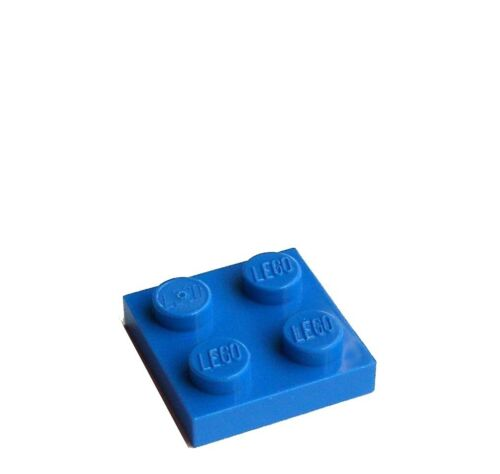 Neu blaue Platten 2 x 2 Basics City 3022 Lego 10 Stück Platte 2x2 in blau