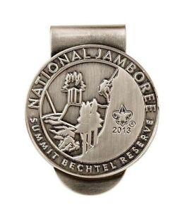 BOY-SCOUT-2013-SILVER-PLATED-NATIONAL-JAMBOREE-SUMMIT-MONEY-CLIP-WORLD-JAM-SITE