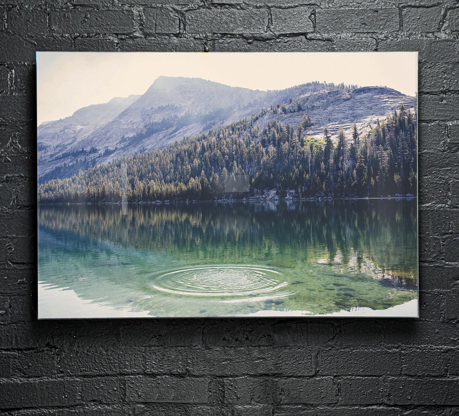 Poster Glas Wand Kunst Drucken Bild ANY Größe Sky Water Drop Mountain p186689