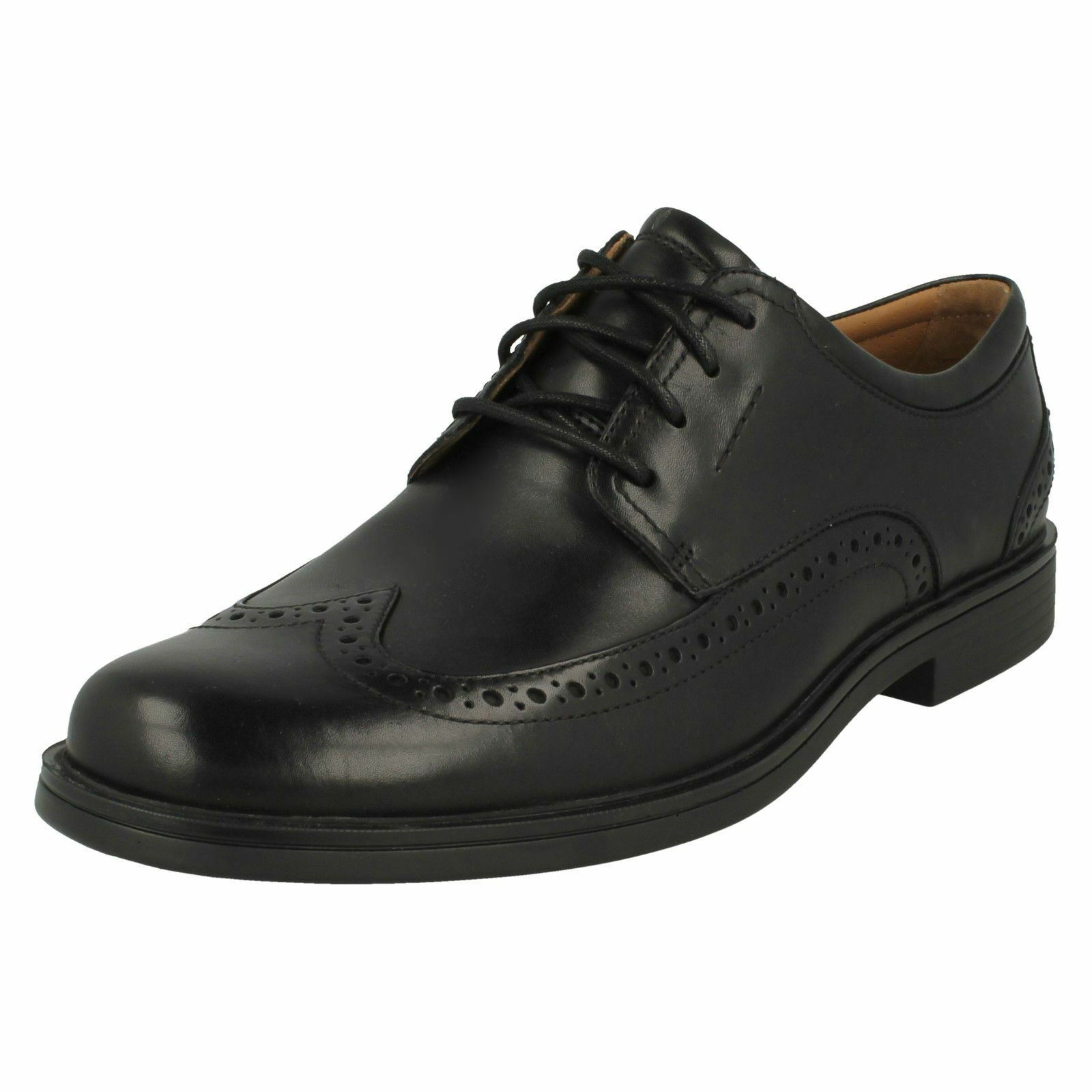 Mens Clarks Formal Wing Tip Shoes - Un Aldric Wing