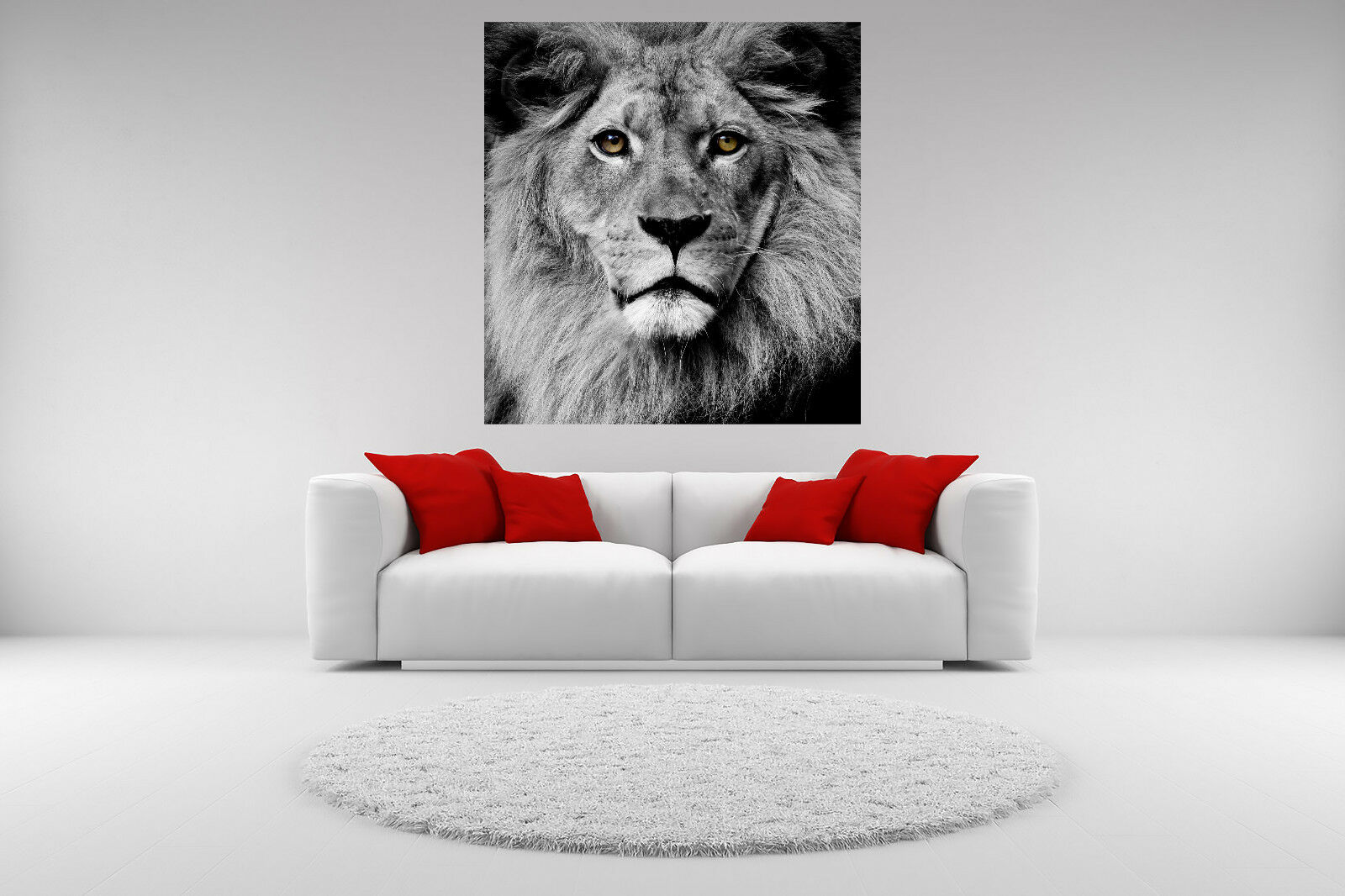 Lion Portrait Canvas Giclee Print Picture Unframed Home Decor Wall Art 2