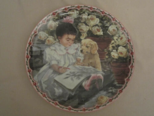 A GOLDEN MOMENT collector plate GOLDEN RETRIEVER DOG Me and My Shadow J. WELTY