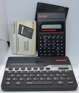 Franklin-Wordmaster-Deluxe-Computer-Merriam-Webster-WM-1055A-WM-1200