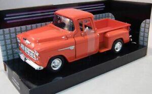 Motormax-1-24-American-Muscle-Chevy-Stepside-1955-Naranja