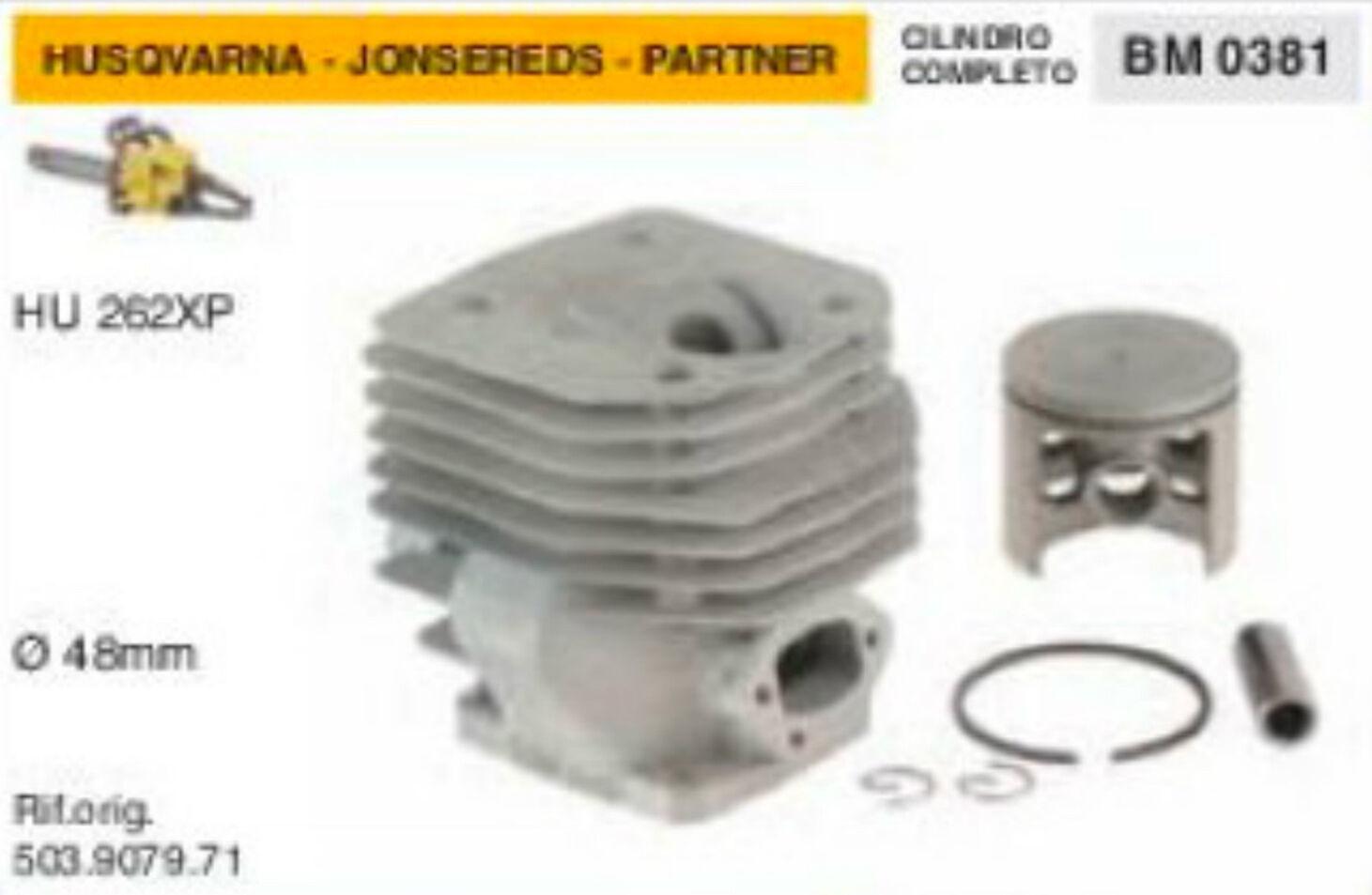 503.9079.71 Cylindre et Piston Scie à Chaîne Husqvarna Apps Hu 262 XP Ø 48 Mm