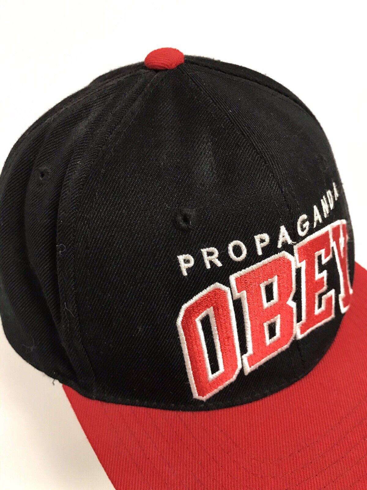 Propaganda Obey Red Black Snapback Hat - image 2