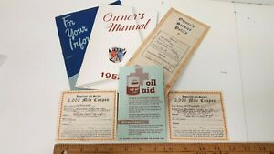1952-FORD-Original-Five-Part-Owners-Manual-Kit-Very-Good-Condition-CDN