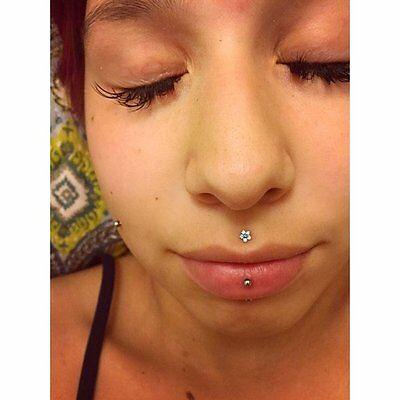 Flower Cartilage Monroe Philtrum Tragus Helix Medusa Piercing Ebay
