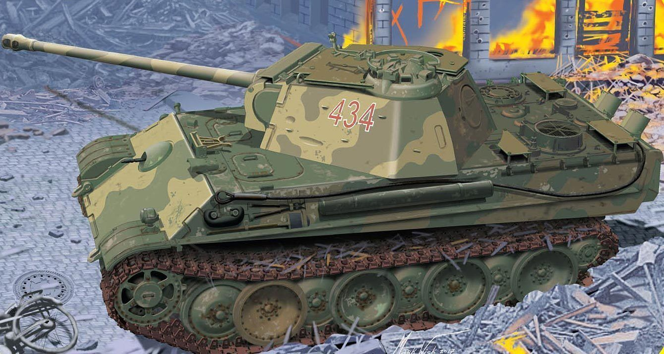 DRAGON 1:3 5 5 5 6897: Panthère ausf.g Guides Production avec add-on Anti-Aircraft 4e2076