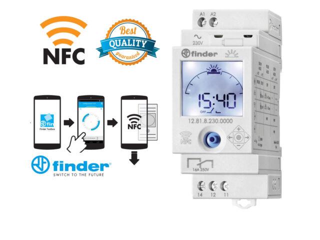 FINDER INTERRUTTORE ORARIO DIGITALE ASTRONOMICO NFC 12.81.8.230.0000 12818230