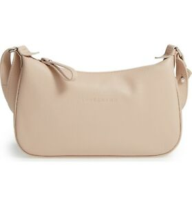 b01e717a4a0 Image is loading New-LONGCHAMP-Veau-Foulonne-Leather-Crossbody-Hobo-Bag-