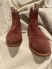RM Williams Classic Craftsman Chocolate Suede Boots - Sz 7D