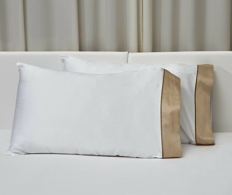 Signoria Firenze Luna König Pillowcase Pair - Weiß Pearl