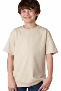 Gildan-T-Shirt-Youth-Ultra-Cotton-Plain-Crewneck-Size-XS-XL-Children-Shirt-2000B