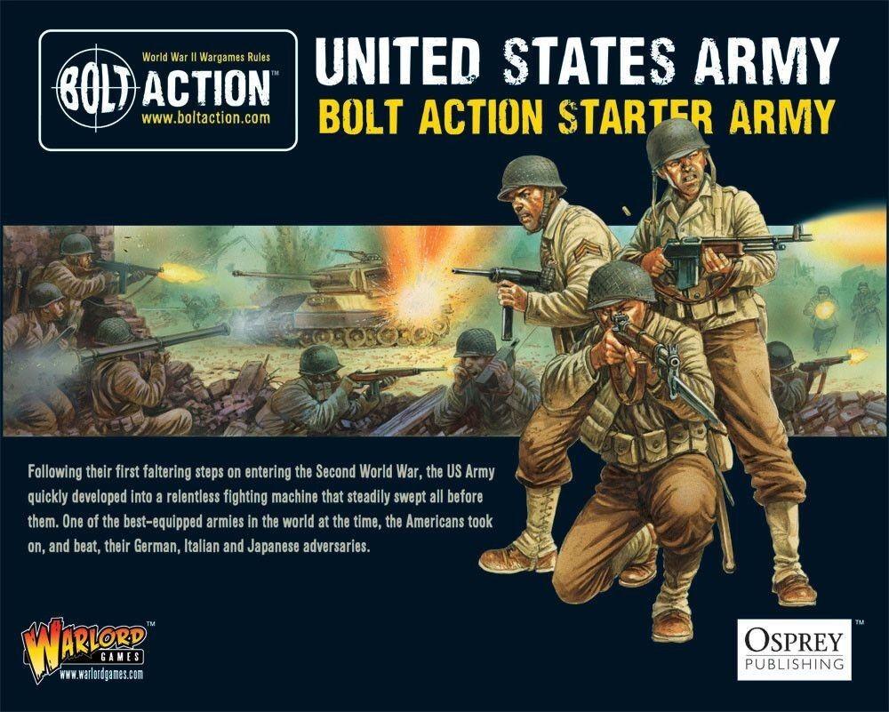 Bolt Acción Motor De Arranque Ejército American 28mm Warlord Games