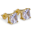 Men-Square-Round-Solitaire-Hip-Hop-Gold-Diamond-Screw-Back-Stud-Earrings-8-6-4mm thumbnail 7