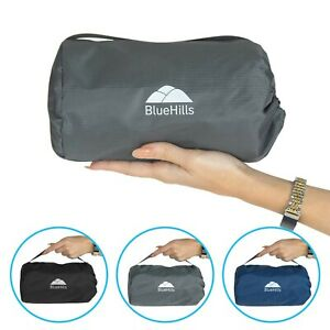BlueHills Ultra Compact Portable Large Blanket for Airplane Travel Flight - Gray