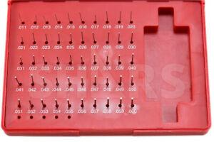 """Shars 190 Pcs M1 .061-.250/"""" Class ZZ Steel Pin Plug Gage Gauge Set Minus New -"""