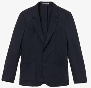 Lacoste-Men-039-s-Blazer-Stretch-Wool-Twill-In-Marine-Blue-Size-48-56