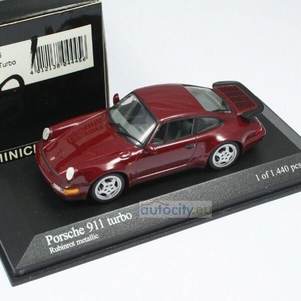 MINICHAMPS PORSCHE 911 TURBO RUBINrojo METALLIC 430069106