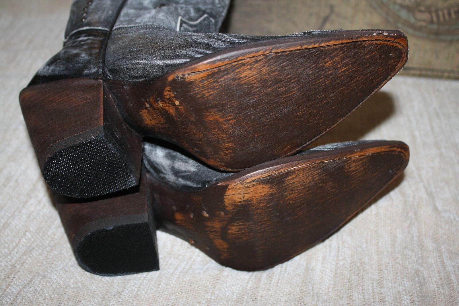 WOMENS LIBERTY BLACK MAA003 MAA003 MAA003 DISTRESSED BLACK WESTERN BOOTS US SIZE 7 (B215) c31b6c