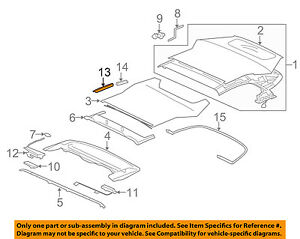 jaguar oem 07 15 xkr convertible soft top front seal left c2p16666 v8 engine diagram image is loading jaguar oem 07 15 xkr convertible soft top