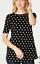 NEW-J-JILL-XS-M-L-Daisy-Pima-Shirttail-Tee-Top-Floral-100-Cotton-Black thumbnail 1