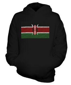 KENIA KRITZELTE FLAGGE KINDER KAPUZENPULLOVER HOODIE JUNGEN MÄDCHEN KLEINKIND