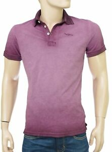 780645844cc PEPE JEANS Polo Bordeaux Tie and Dye homme COSBY PM540946 coloris ...
