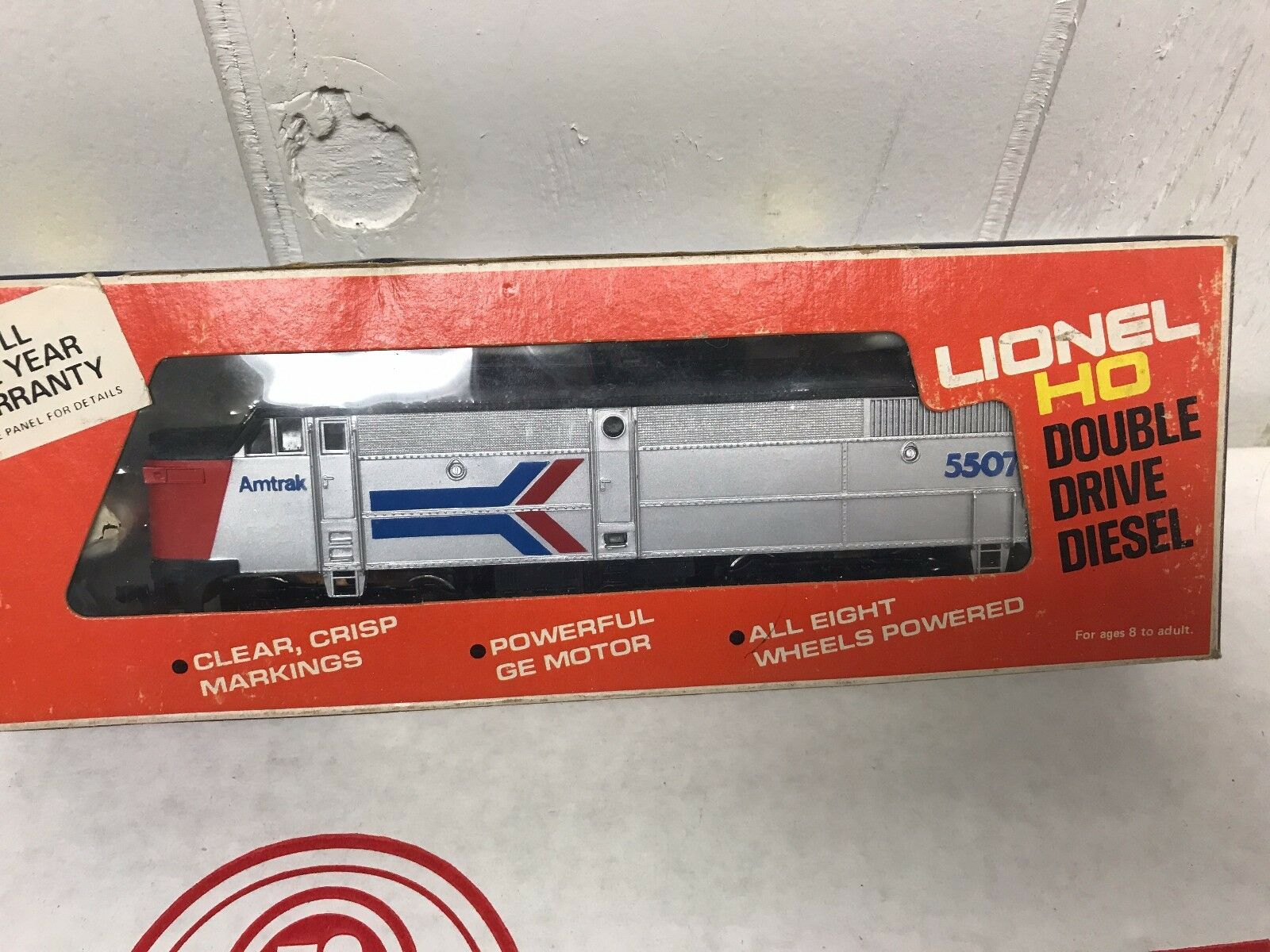 Lionel HO skala Tåg 5 -5507 Motor Alco A Amtrak årgång med låda