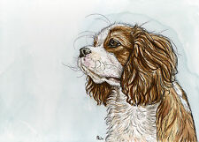 Cavalier King Charles Spaniel Art Dog Print