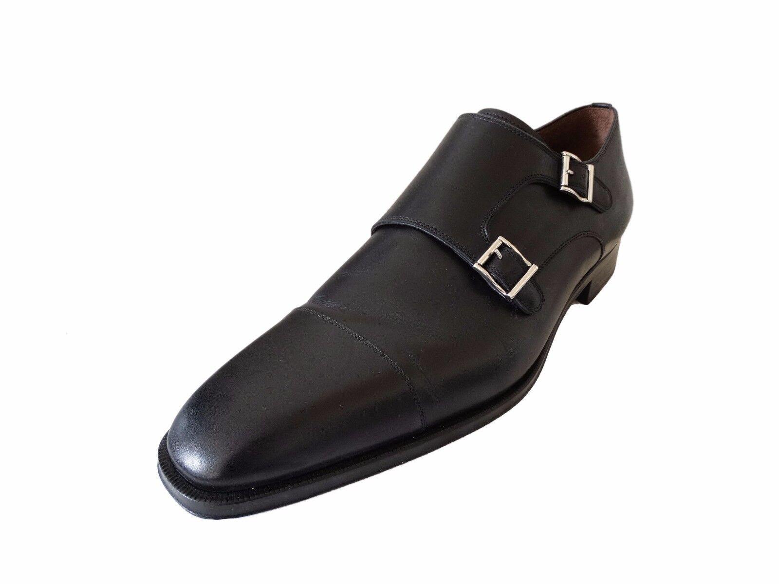 garantito Massimo Emporio Uomo Walter Double Monk Cap-Toe nero 12 M-US M-US M-US  articoli promozionali