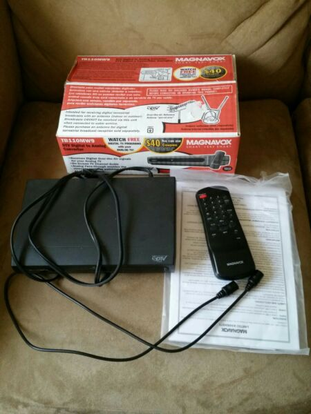 Nauwkeurig Untested Magnavox Tb110mw9a Dtv Digital To Analog Tv Sdtv Converter With Remote.