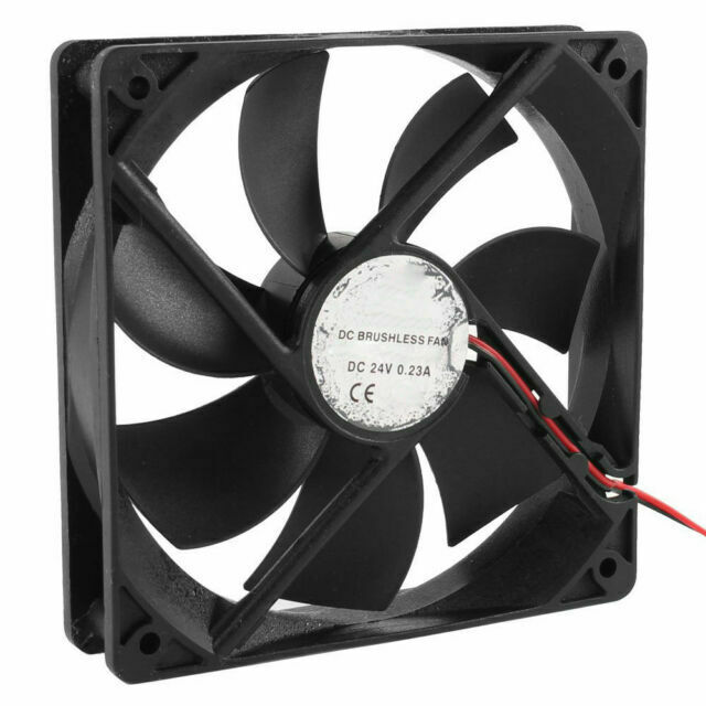 120mm x 25mm DC 24V 2Pin Sleeve Bearing Computer Case Cooling Fan Q9R8