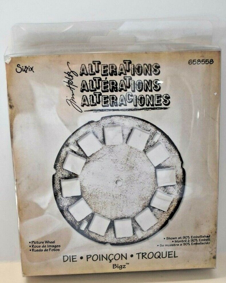 9 Sizzix Picture Wheel Die Cuts YouPickColor viewmaster scrapbook card Tim Holtz