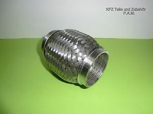 Universal 3 Zoll Flexrohr Flexstück Flammrohr Hosenrohr Auspuff Rohr 76x100mm//80