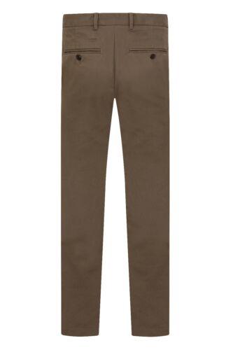 Ex M/&S Men Chinos Pants Trousers Work Jeans Straight Leg Cotton Adjustable Waist