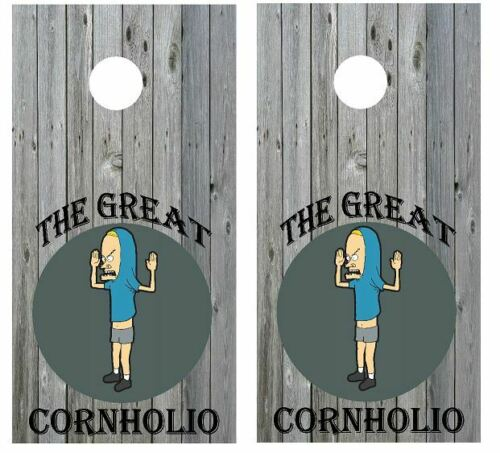 Beavis The Great Cornhole Wraps Vinyl Boards Decals Bag Toss Game Stickers