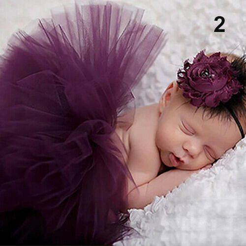Baby Girl Tutu Dress with Flower Headband Clothing Costume Photography Props