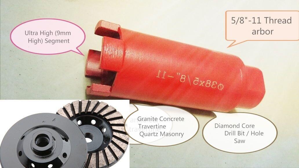 1 1 2  Diamond sink hole Core Bit 4 X 4  Grinding Cup Granite Concrete masonry