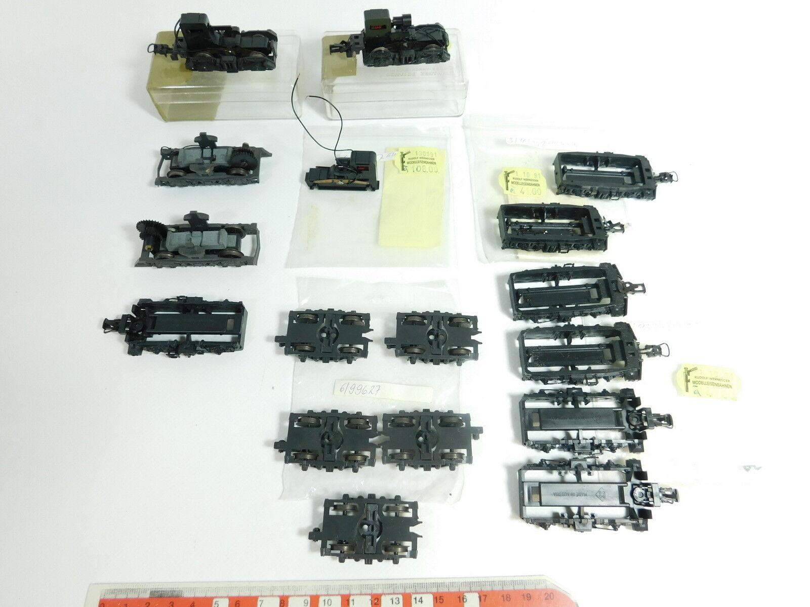 AN334-0,5  Roco H0 Drehgestelle Drehgestelle Drehgestelle Getriebe teilweise mit Achsen; 17 Teile  | Auktion  822556