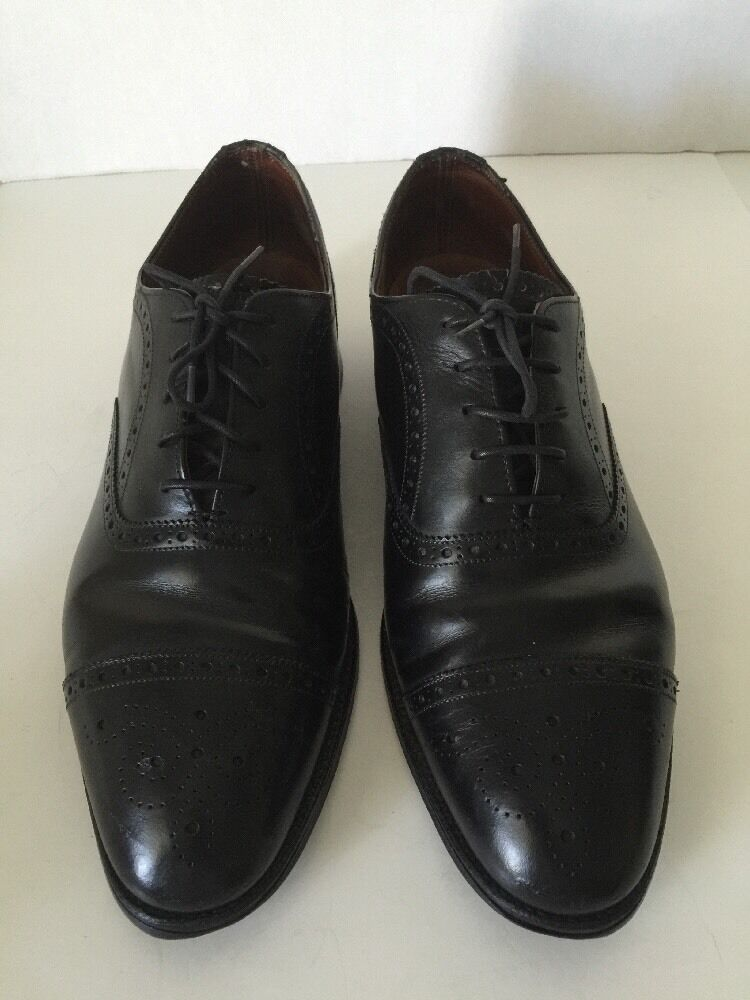 538f8e18087 BROOKS BROTHERS black Leather Brogue Brogue Brogue Cap Toe Oxfords 8-1 2  England