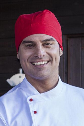 Bandana Cappello Cuoco Chef Pizzaiolo Uomo Donna da Lavoro Cucina Ristorante Bar