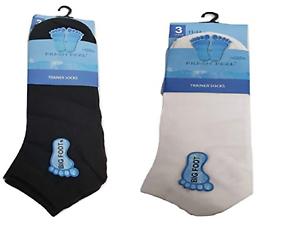 UK 11-14 Mixed 6 Mens Active Sport Cotton Rich BIG FOOT Trainer Liner Socks