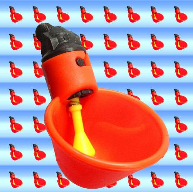 25 Chicken Drinker Cups plastic automatic poultry waterer drink coop Water PVC